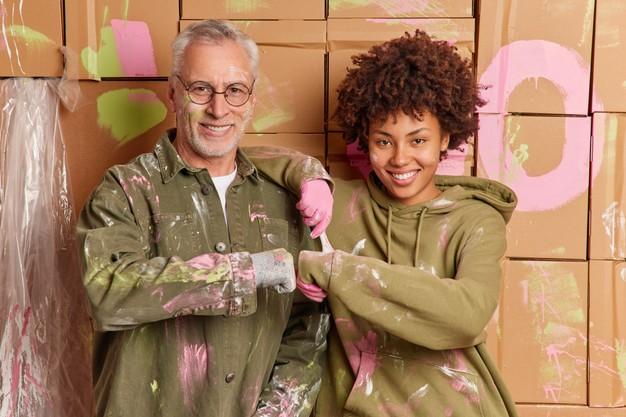 maling far og datter